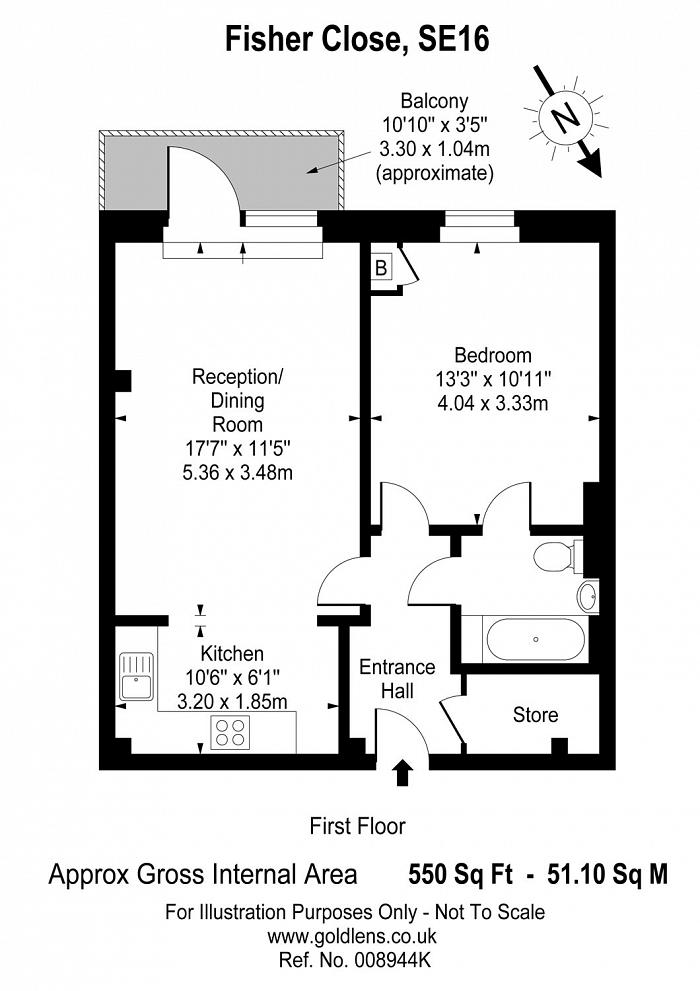 Fisher Close, Surrey Quays, SE16 Floorplan