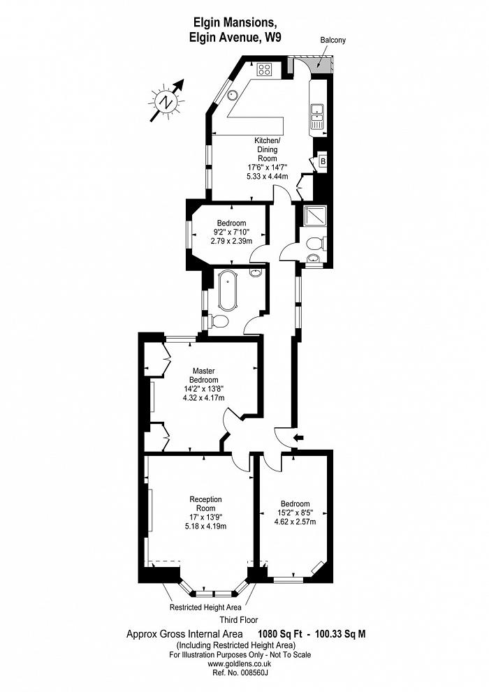 Elgin Mansions, Elgin Avenue, W9 Floorplan