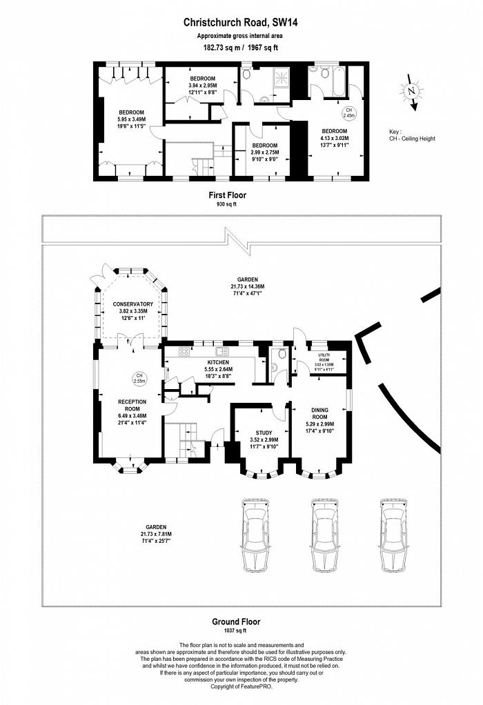Christchurch Road, Palewell, SW14 Floorplan