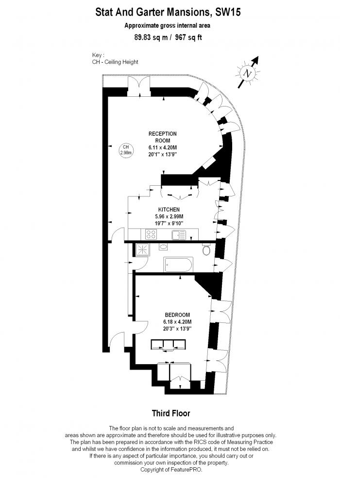 Star & Garter Mansions, Lower Richmond Road, SW15 Floorplan
