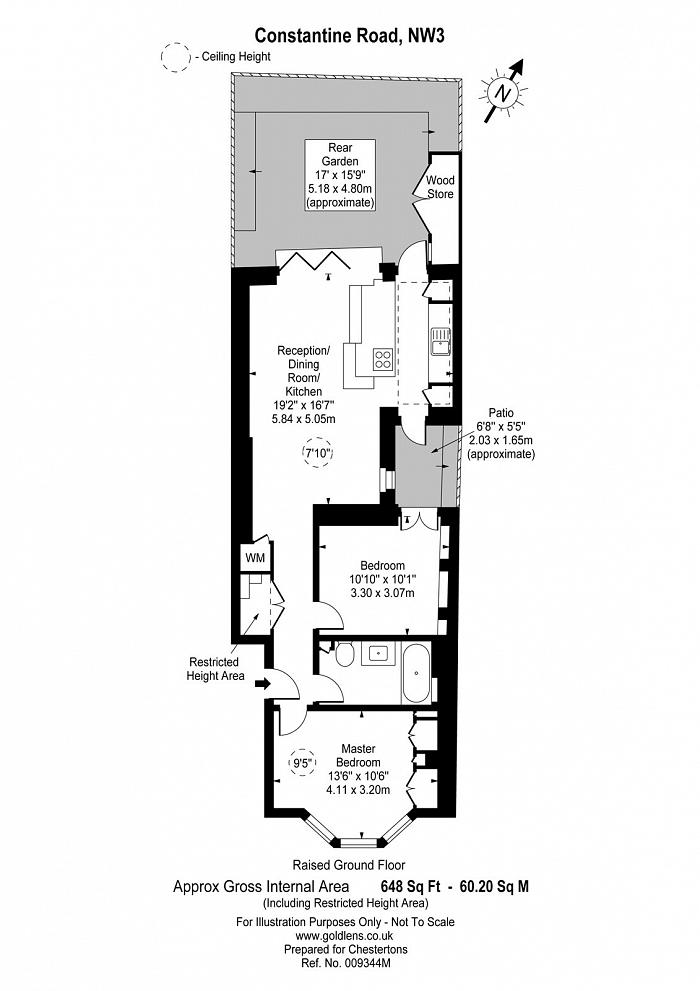 Constantine Road, South End Green, NW3 Floorplan