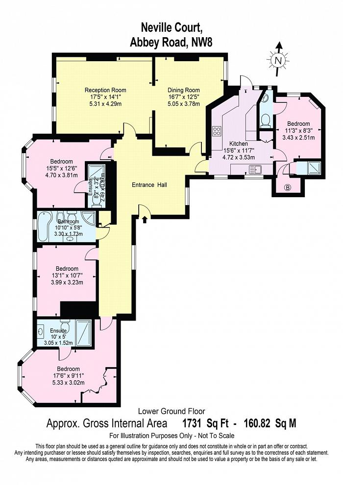 Neville Court, Abbey Road, NW8 Floorplan