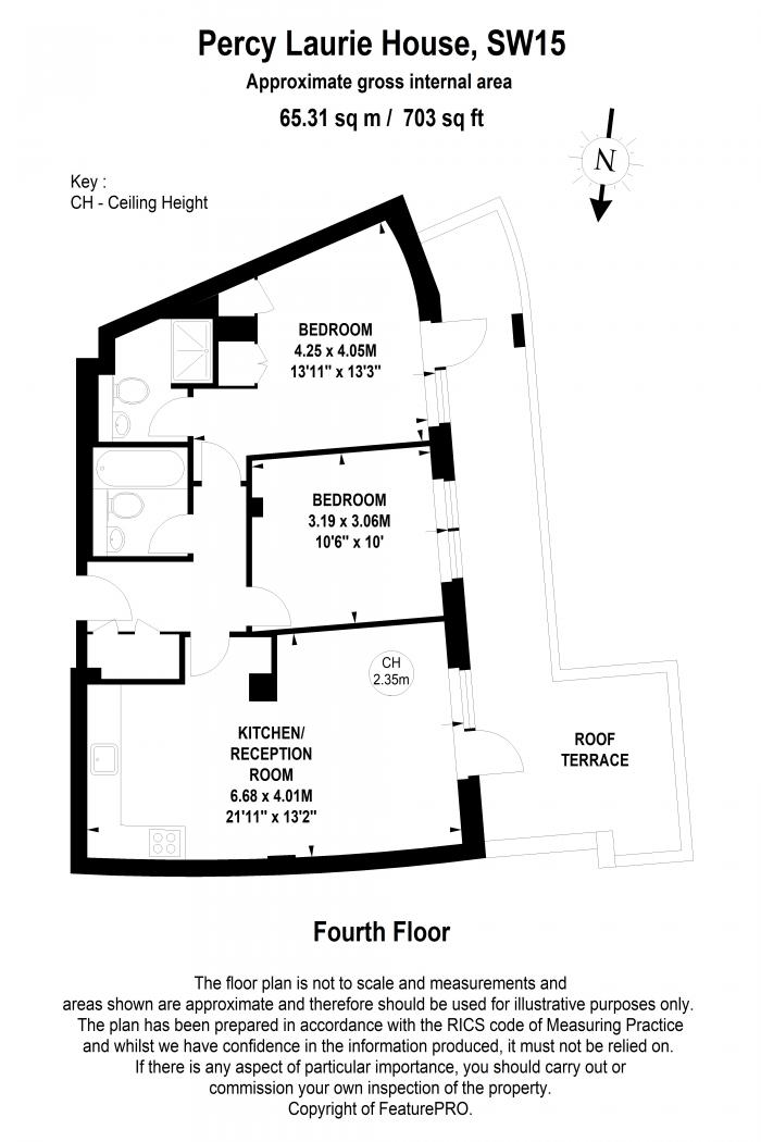 Percy Laurie House, 217 Upper Richmond Road, SW15 Floorplan