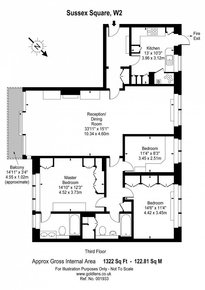 Sussex Square, The Hyde Park Estate, W2 Floorplan