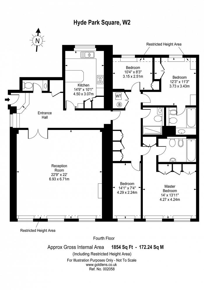 Hyde Park Square, The Hyde Park Estate, W2 Floorplan