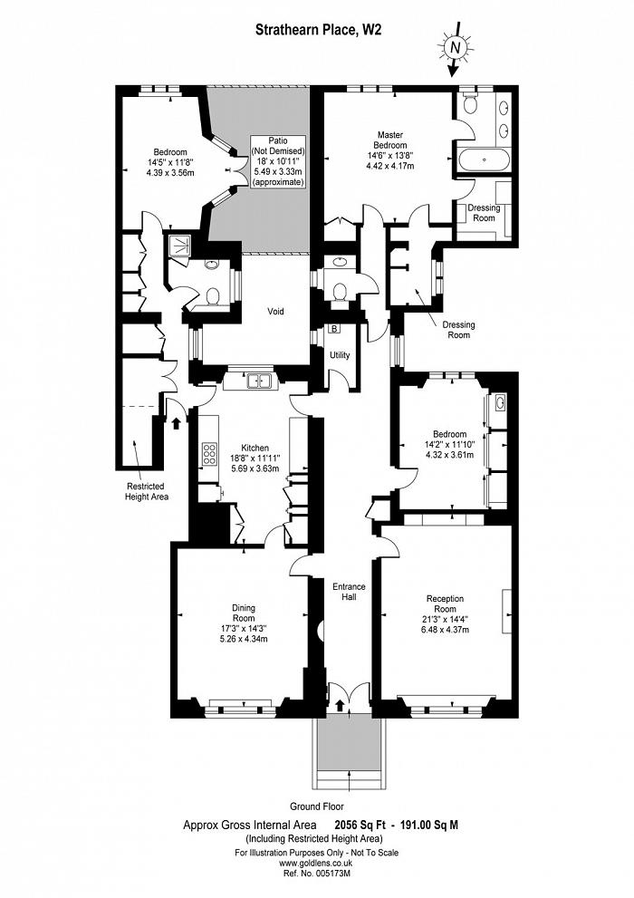 Clarendon House, Strathearn Place, W2 Floorplan