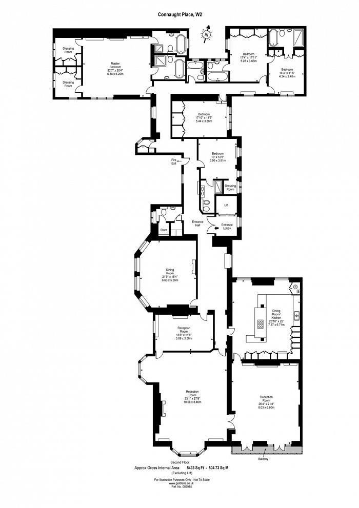 Connaught Place, Hyde Park, W2 Floorplan