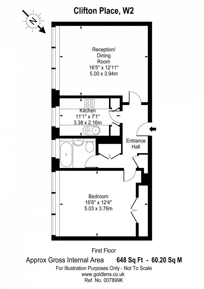 Clifton Place, Hyde Park, W2 Floorplan