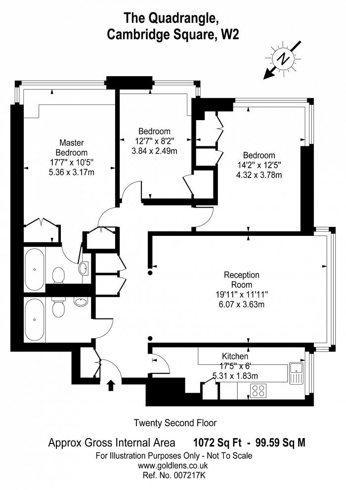 Quadrangle Tower, Cambridge Square, W2 Floorplan