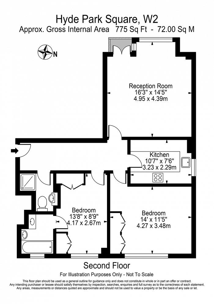 1 Hyde Park Square, St Georges Fields, W2 Floorplan