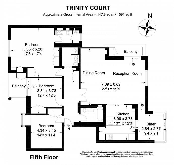 Trinity Court, 170a Gloucester Terrace, W2 Floorplan