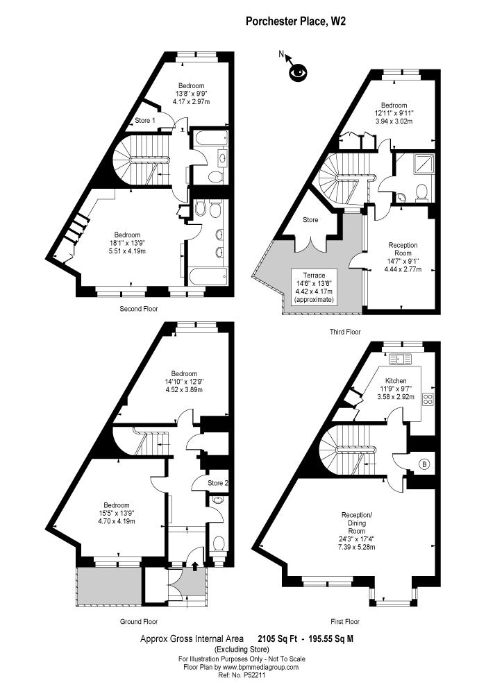 Porchester Place, Hyde Park, W2 Floorplan