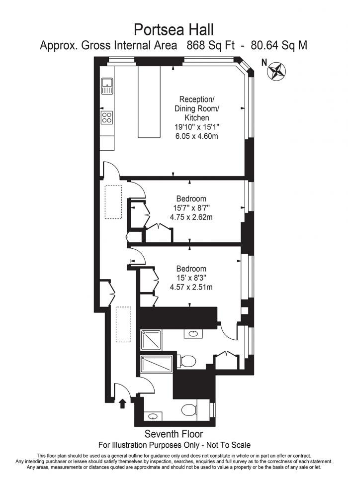 Portsea Hall, Portsea Place, W2 Floorplan