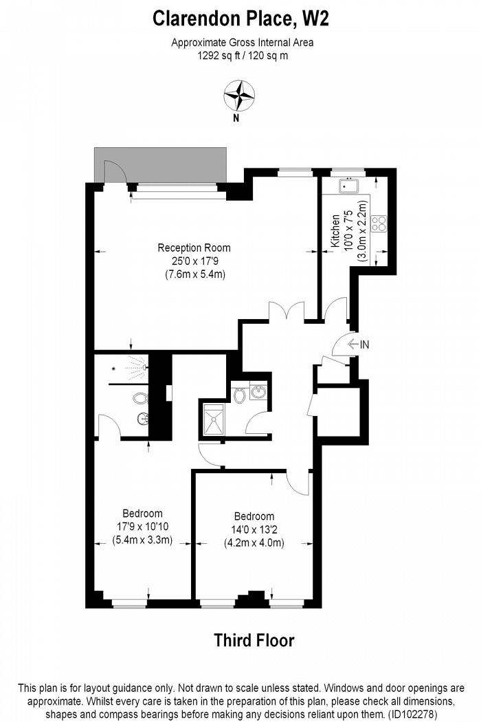 Falmouth House, Clarendon Place, W2 Floorplan