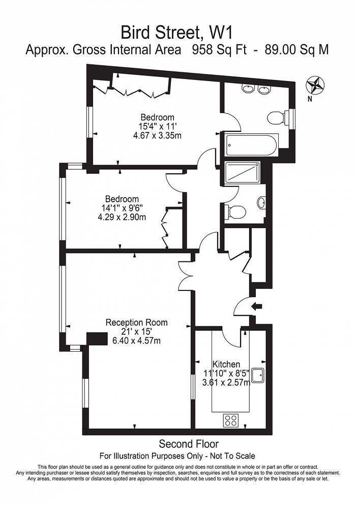 The Phoenix, 8 Bird Street, W1U Floorplan