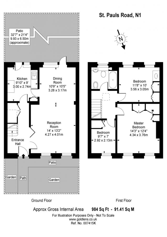 St Pauls Road, Islington, N1 Floorplan