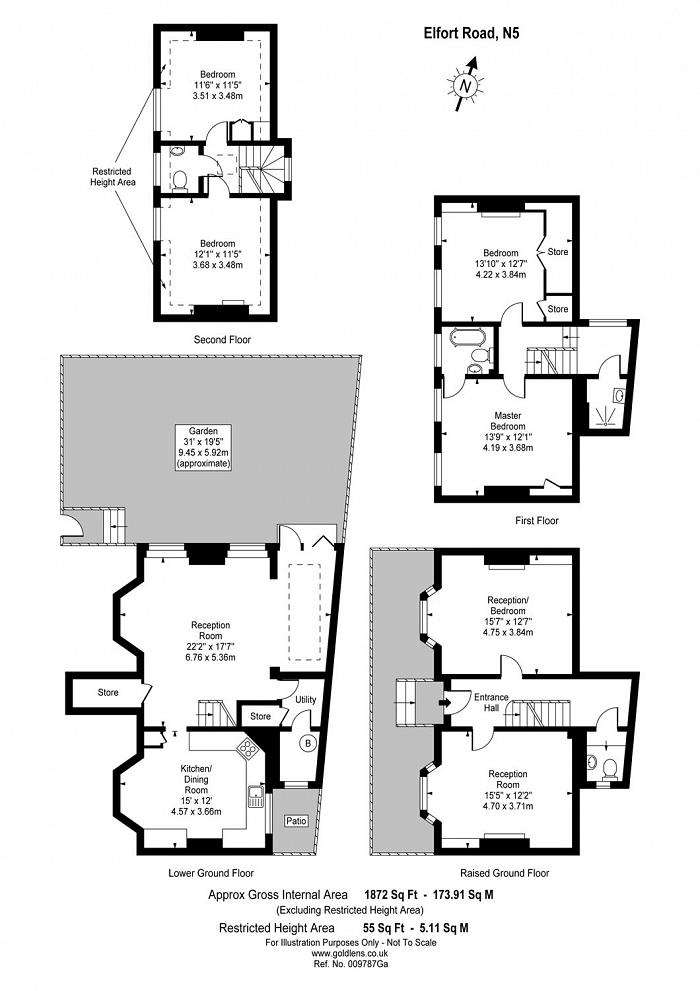 Elfort Road, Highbury, N5 Floorplan