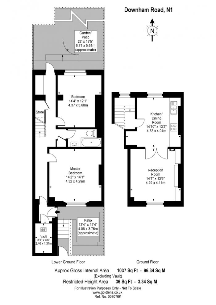 Downham Road, Islington, N1 Floorplan