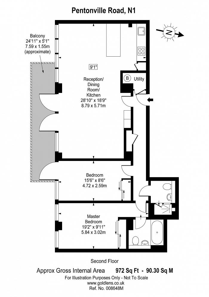 Pentonville Road, Islington, N1 Floorplan