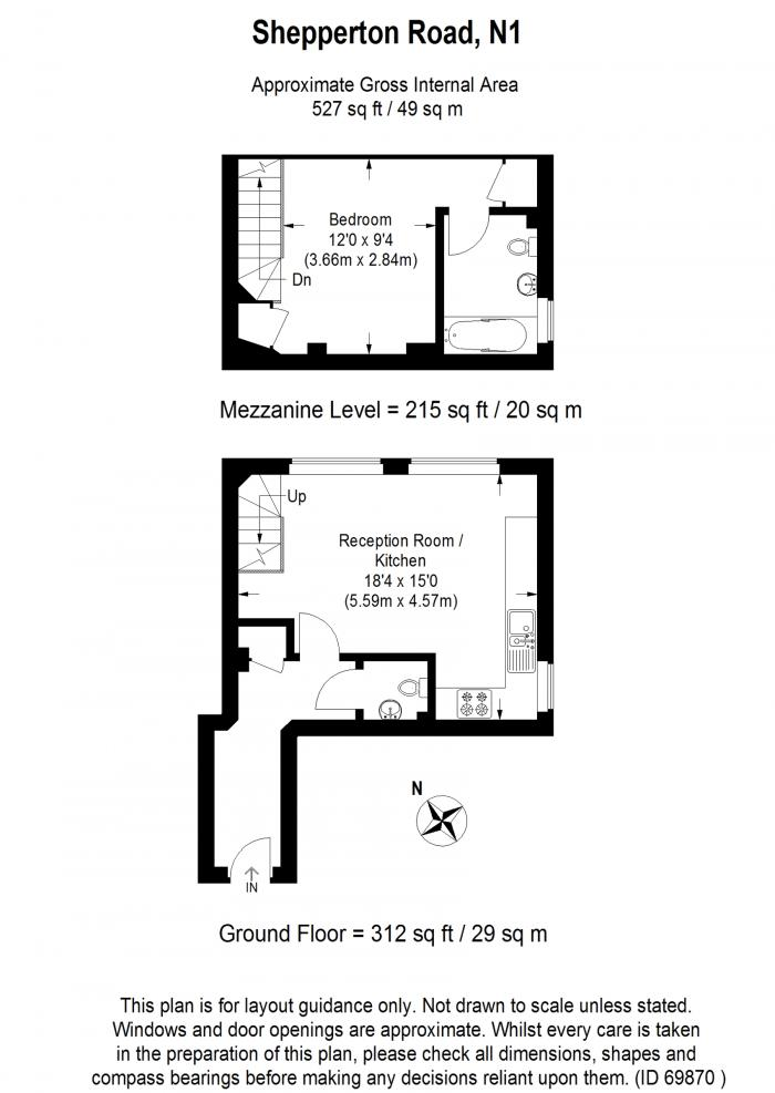Chaplin House, 55 Shepperton Road, N1 Floorplan
