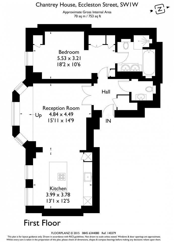 Chantrey House, Eccleston Street, SW1W Floorplan
