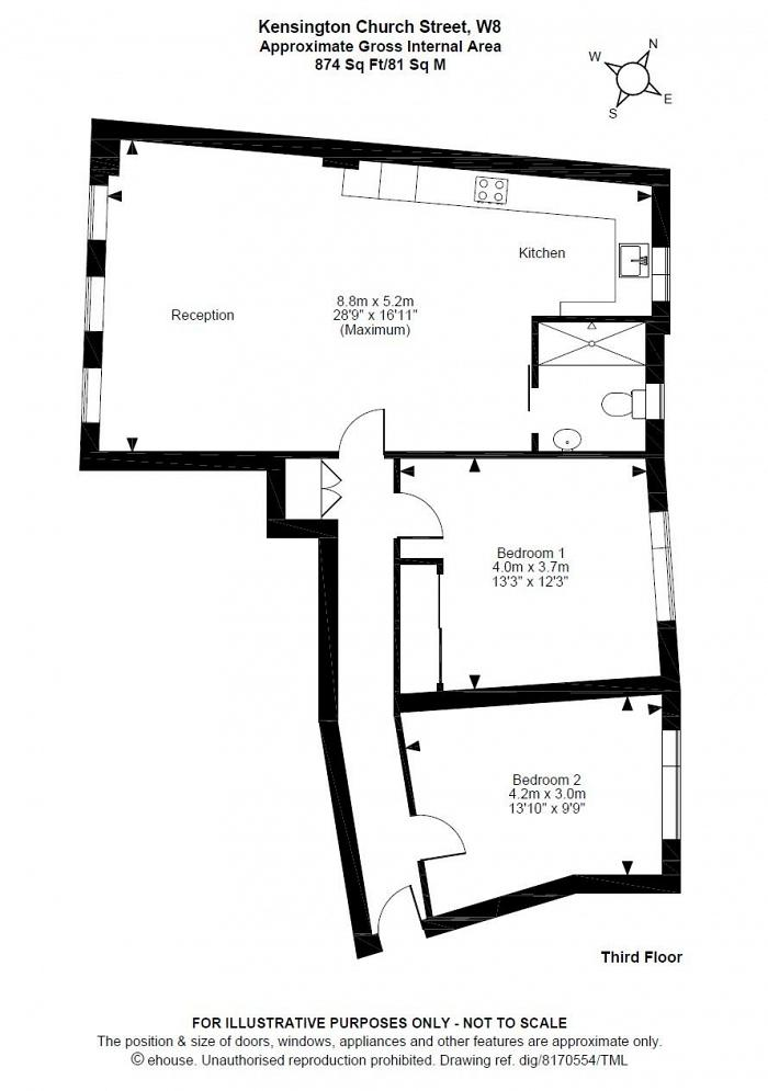 Kensington Church Street, Kensington, W8 Floorplan