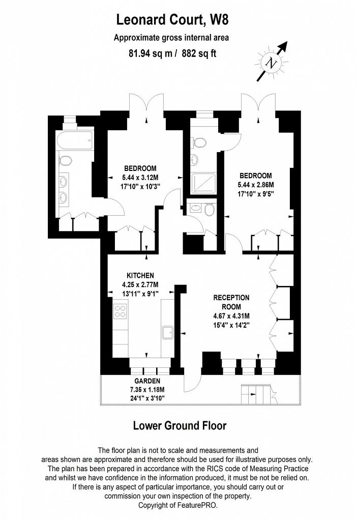 Edwardes Square, Kensington, W8 Floorplan