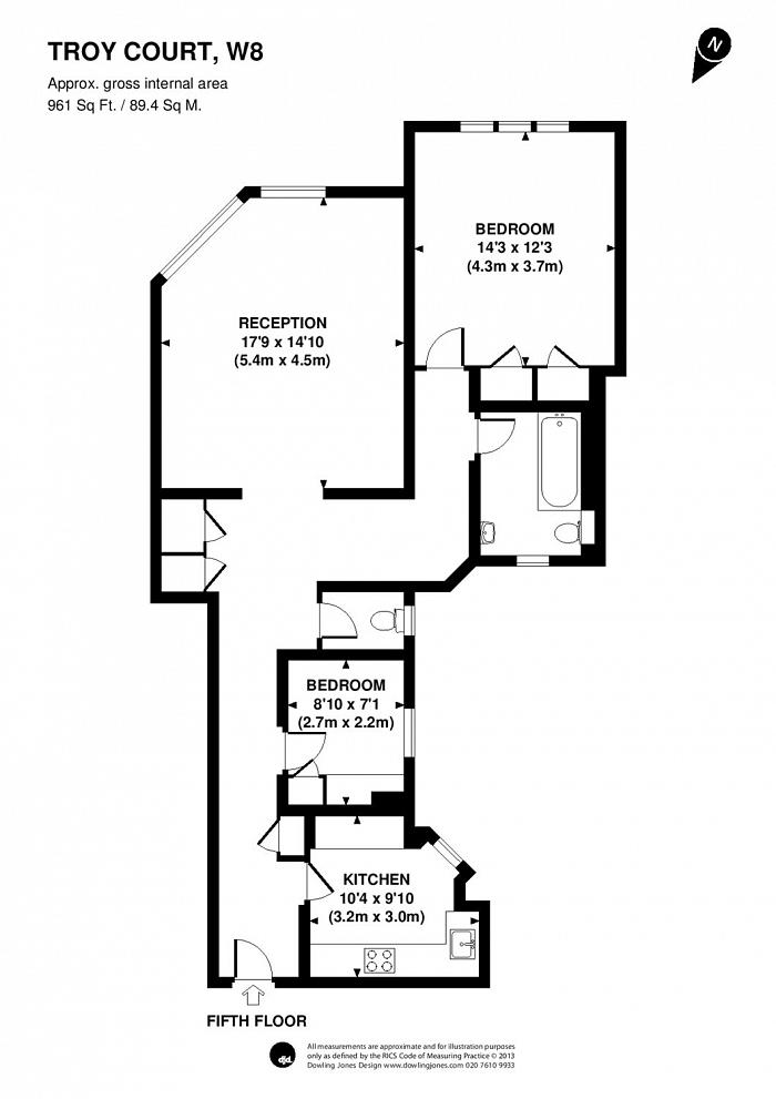 Kensington High Street, Kensington, W8 Floorplan