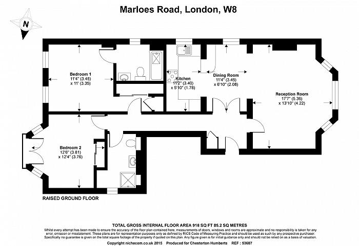 Marloes Road, Kensington, W8 Floorplan