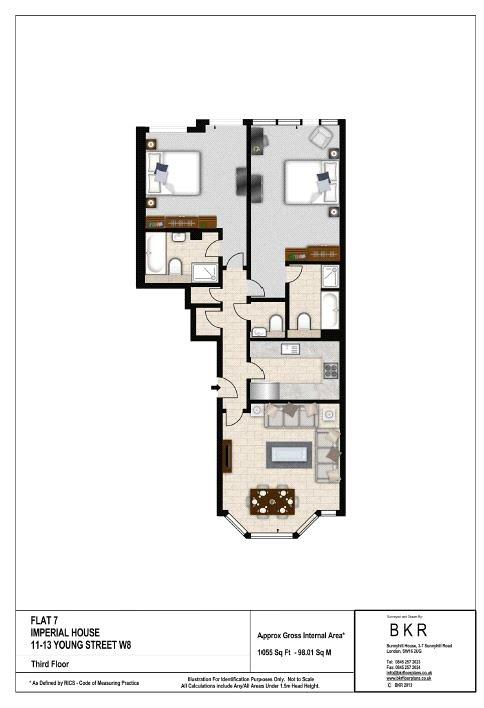 Imperial House, 11-13 Young Street, W8 Floorplan