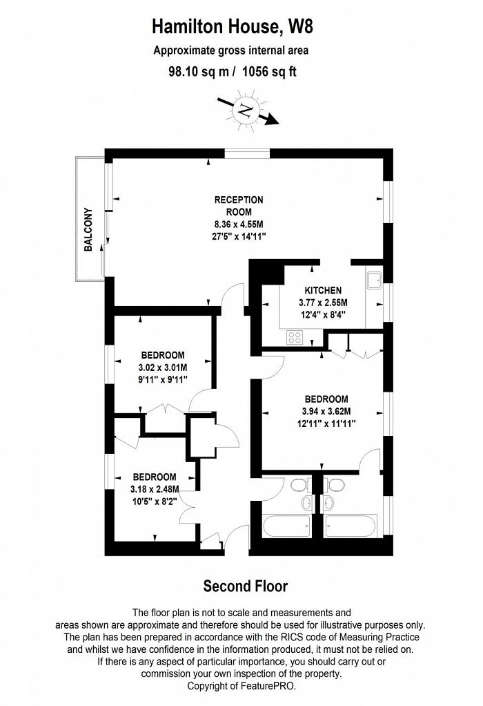 Hamilton House, Vicarage Gate, W8 Floorplan