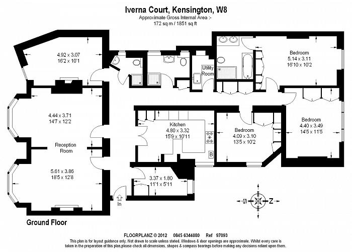 Iverna Court, Kensington, W8 Floorplan