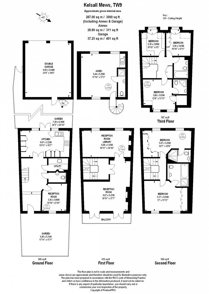 Kelsall Mews, Richmond, TW9 Floorplan