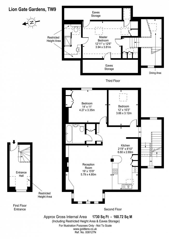 Lion Gate Gardens, Richmond, TW9 Floorplan