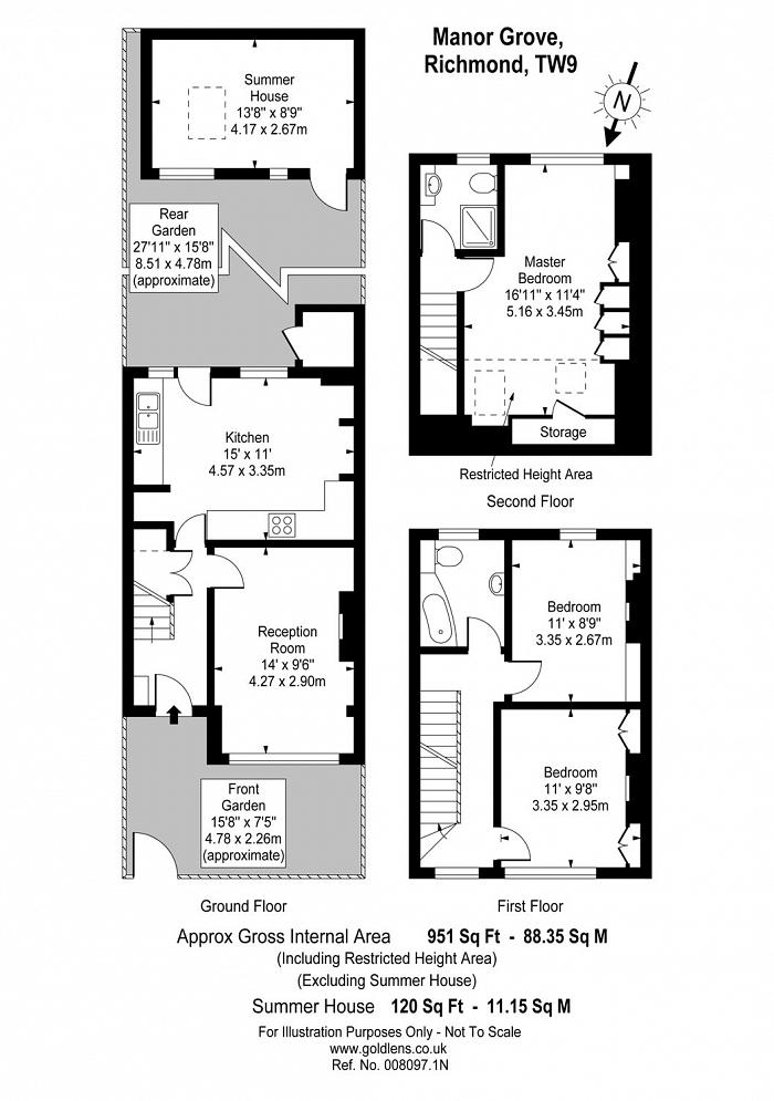Manor Grove, Richmond, TW9 Floorplan