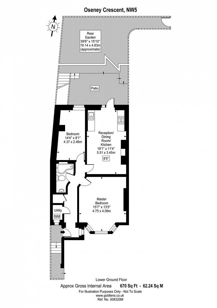 Oseney Crescent, Kentish Town, NW5 Floorplan