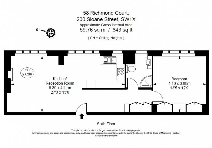 Richmond Court, 200 Sloane Street, SW1X Floorplan