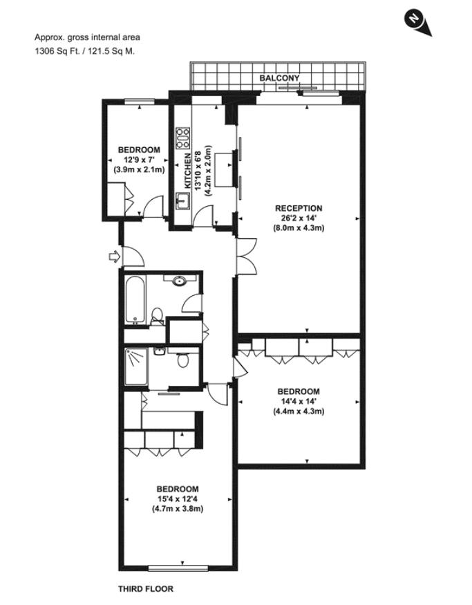 Rutland Gate, Knightsbridge, SW7 Floorplan
