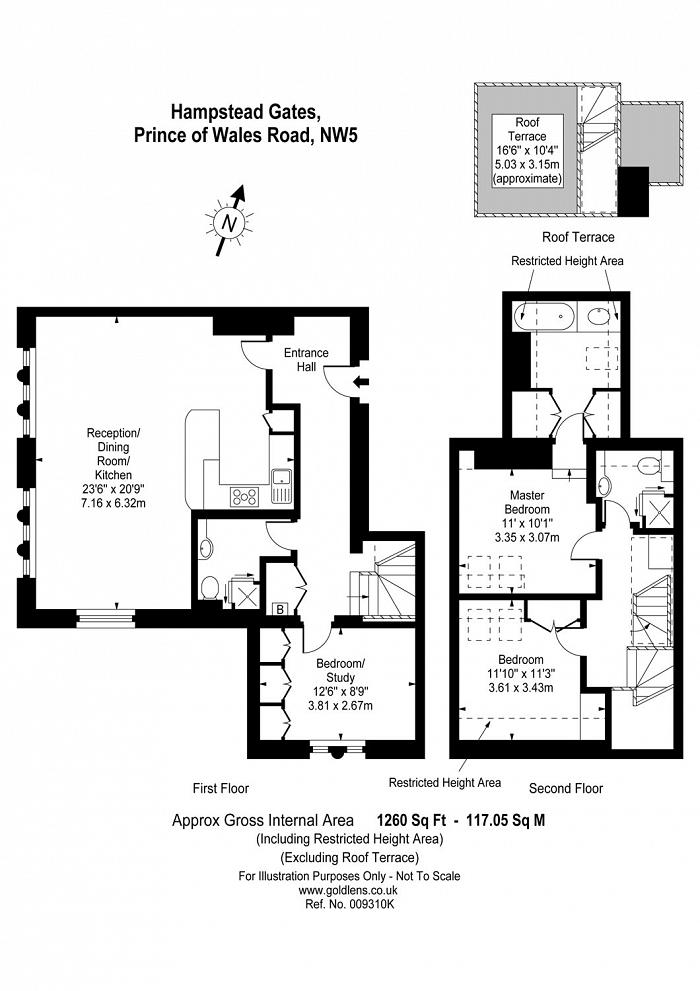 Hampstead Gates, 40a Prince of Wales Road, NW5 Floorplan