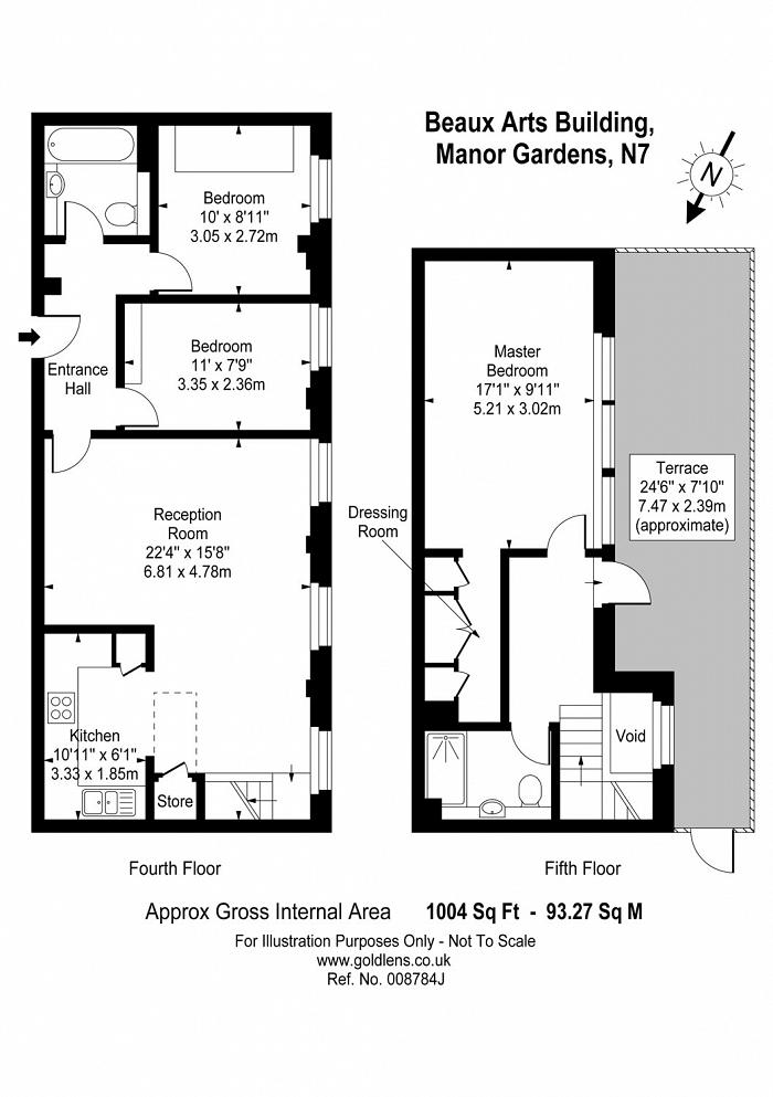 The Beaux Arts Building 10-18, Manor Gardens, N7 Floorplan