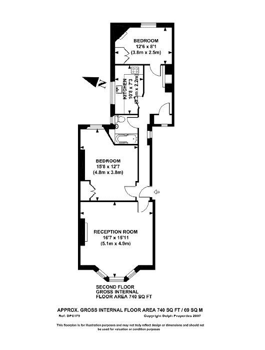 Yale Court, Honeybourne Road, NW6 Floorplan