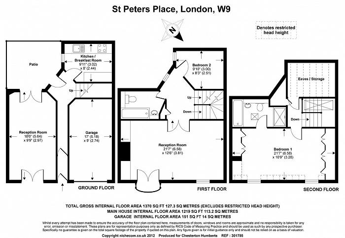 St Peters Place, Maida Vale, W9 Floorplan