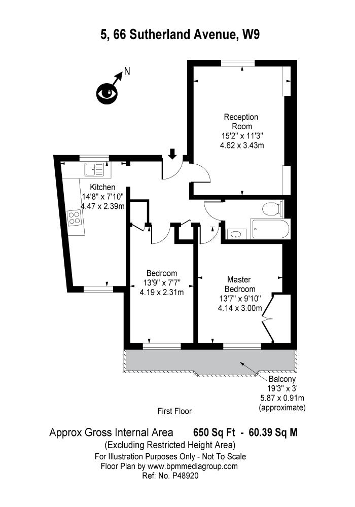 Sutherland Avenue, Maida Hill, W9 Floorplan