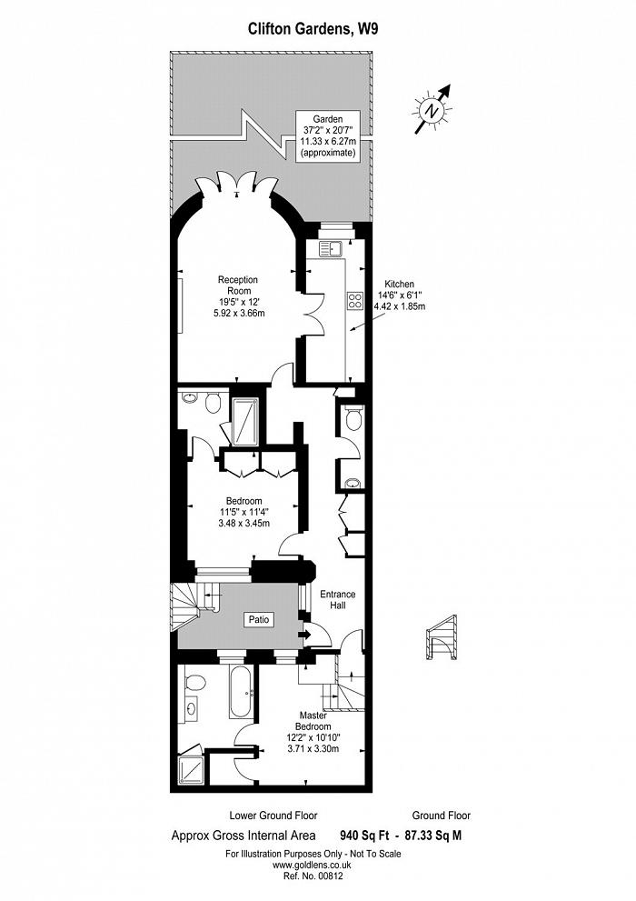 Clifton Gardens, Warwick Avenue, W9 Floorplan