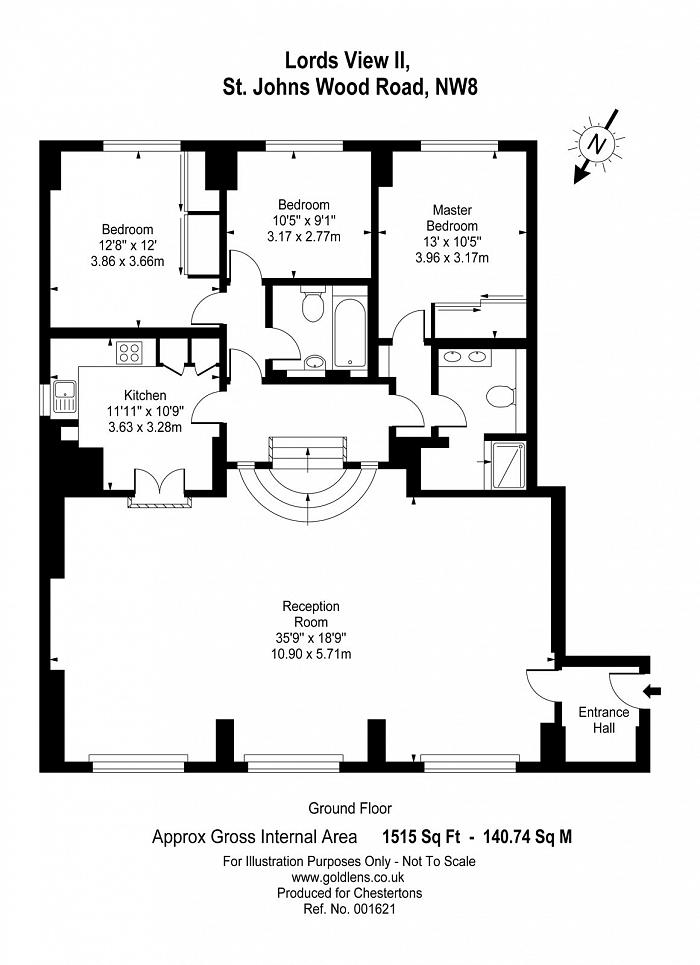 Lords View, St. Johns Wood Road, NW8 Floorplan