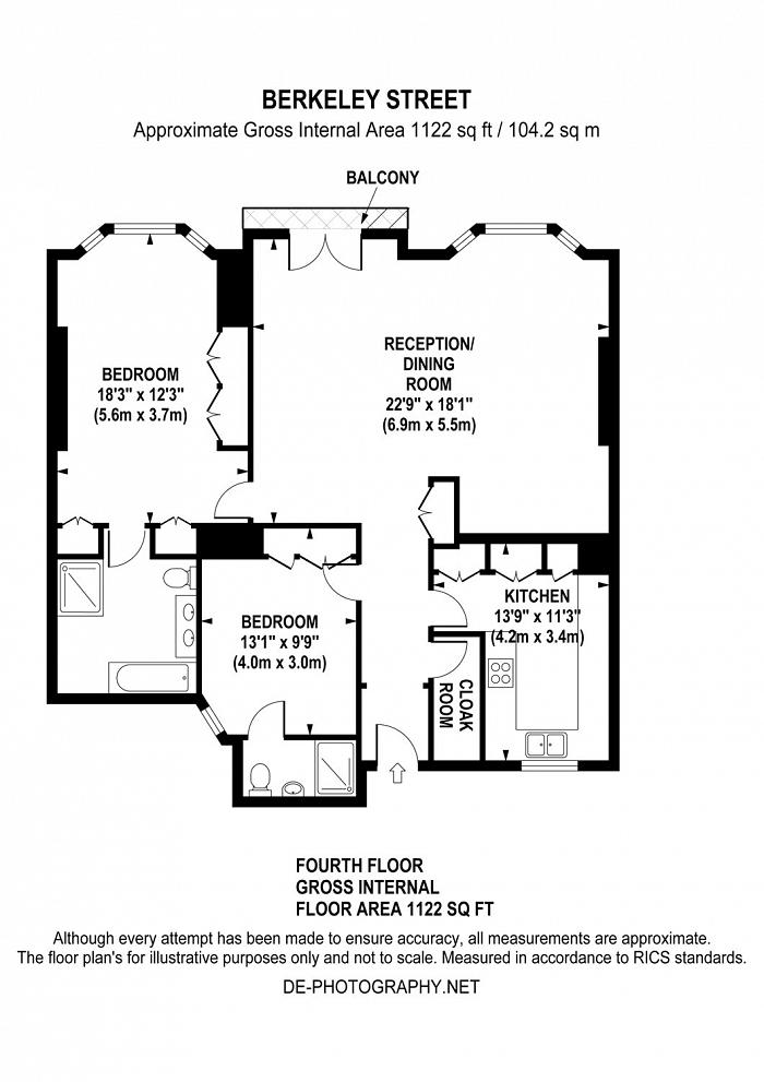 Berkeley Street, Mayfair, W1J Floorplan