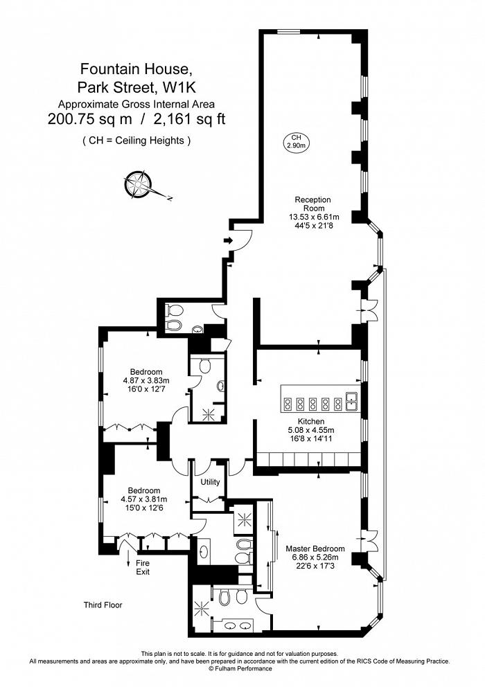 Fountain House, Park Street, W1K Floorplan