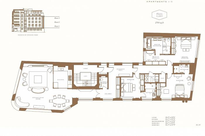 Greybrook House, 28 Brook Street, W1K Floorplan