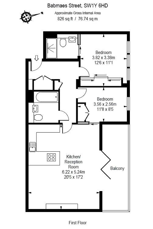 Babmaes Street, Piccadilly Circus, SW1Y Floorplan