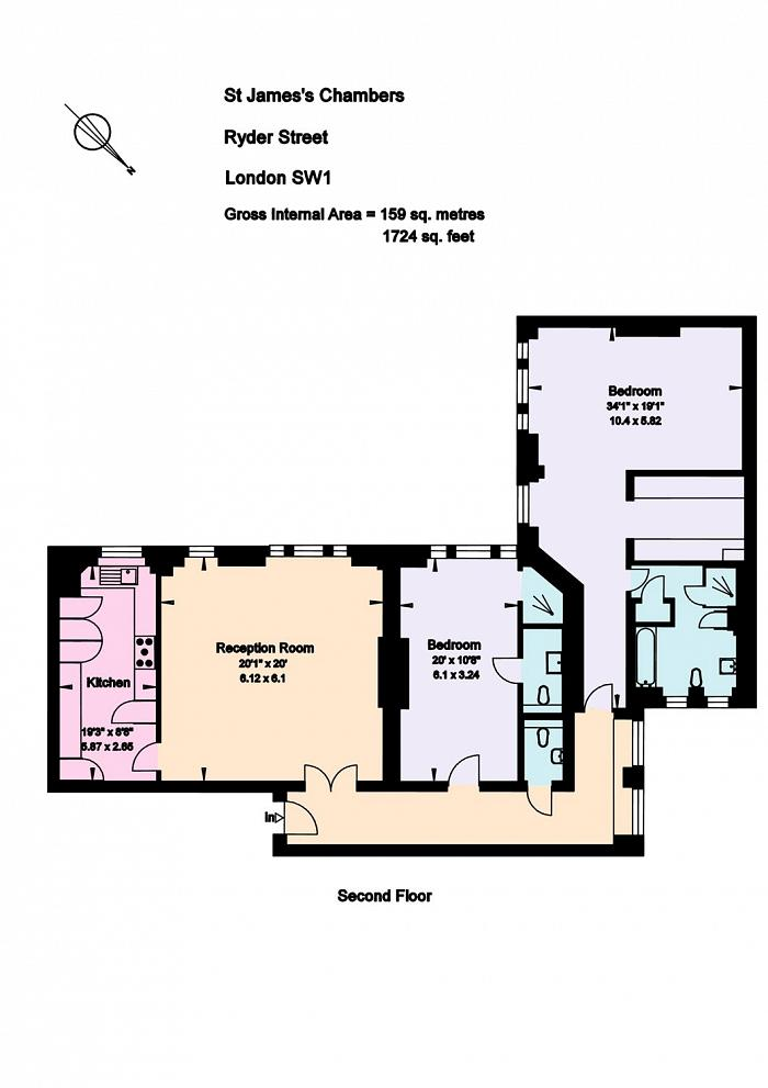 St. James's Chambers, Ryder Street, SW1Y Floorplan